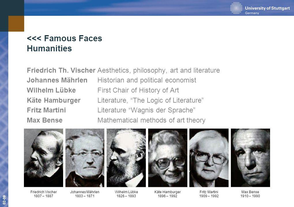 www.uni-stuttgart.de 01-09 02-09 <<< Famous Faces Humanities Friedrich Th.