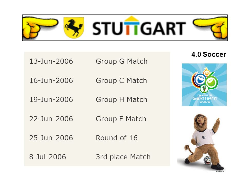 4.0 Soccer 4.2 FIFA WM 2006