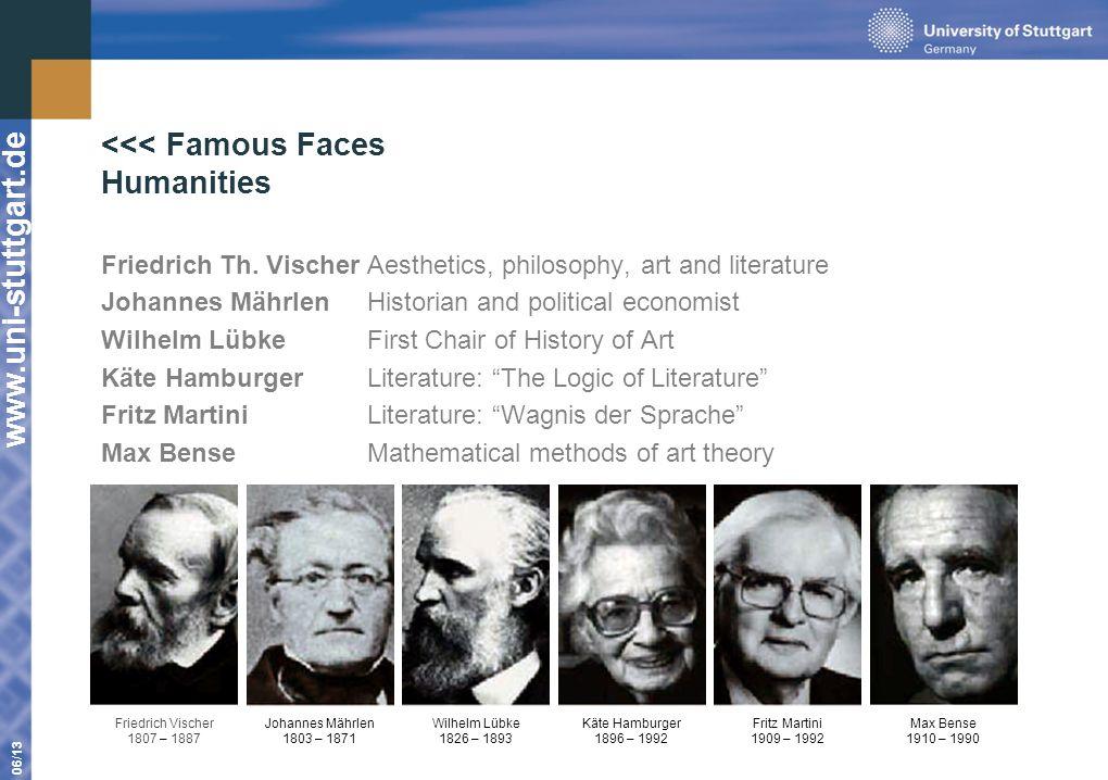 www.uni-stuttgart.de 06/13 Friedrich Th. VischerAesthetics, philosophy, art and literature Johannes MährlenHistorian and political economist Wilhelm L