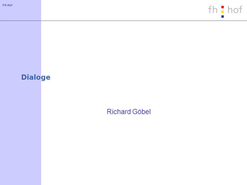 FH-Hof Dialoge Richard Göbel