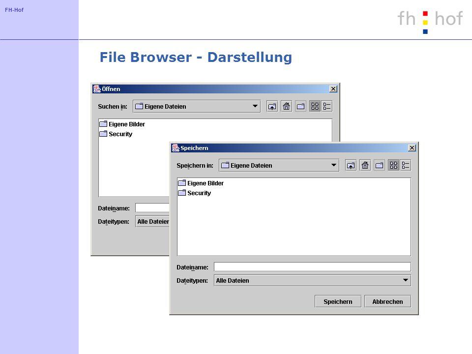 FH-Hof File Browser - Darstellung