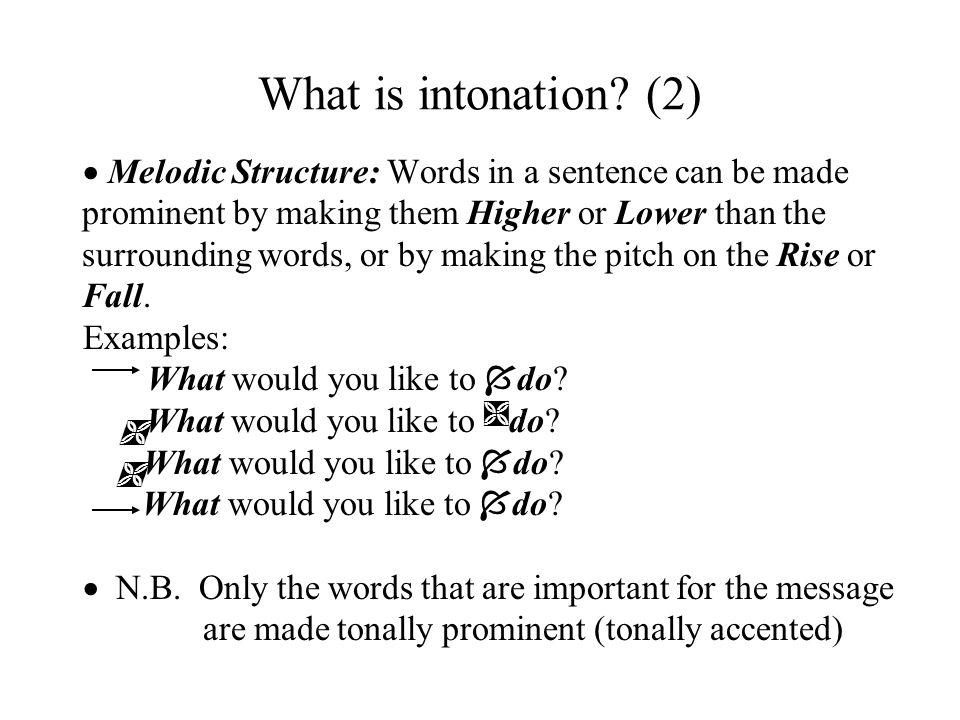 What is intonation.