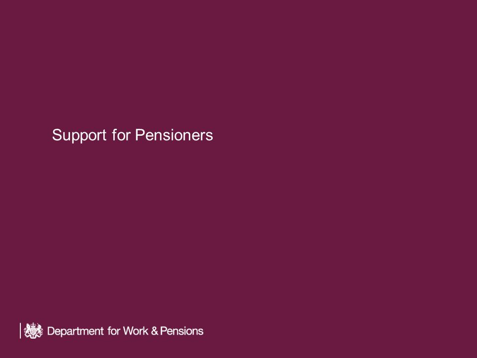 Support for Pensioners