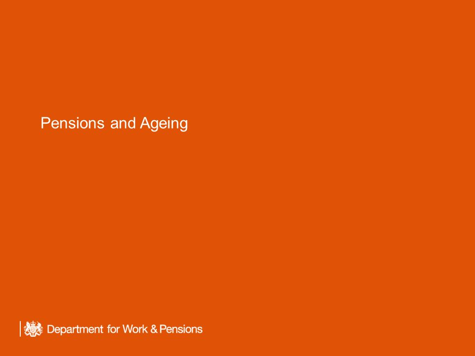Pensions and Ageing