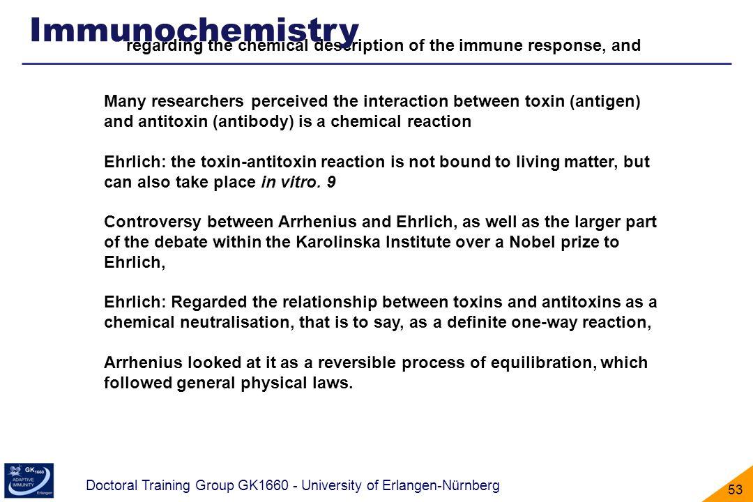 Doctoral Training Group GK1660 - University of Erlangen-Nürnberg 53 regarding the chemical description of the immune response, and Many researchers pe