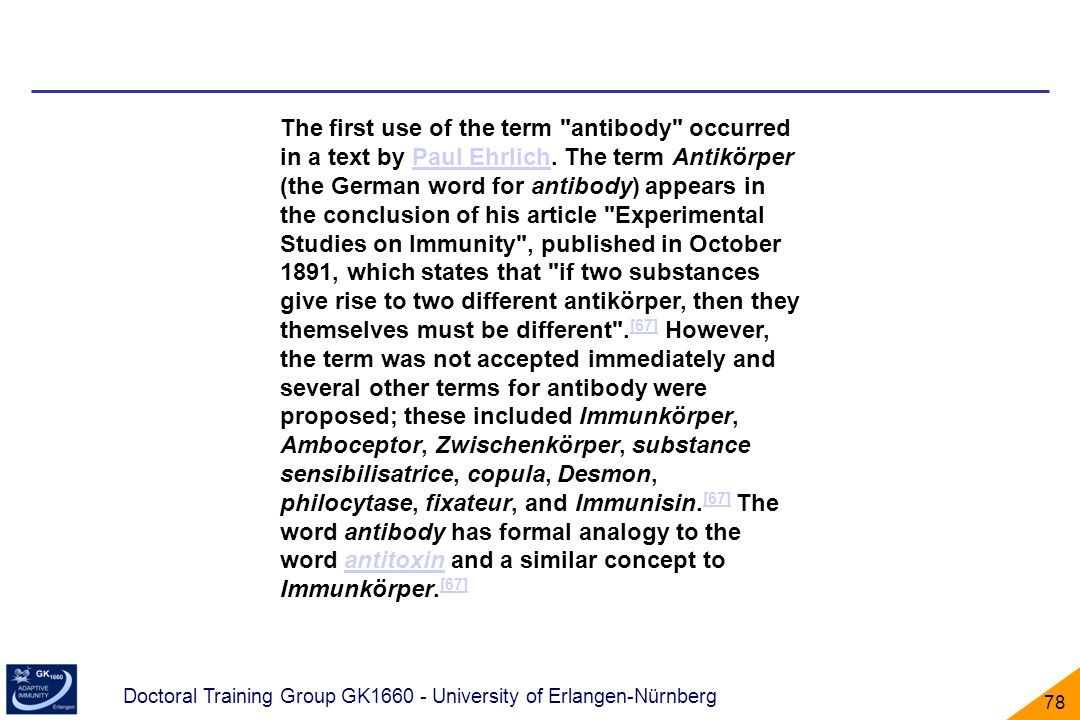 Doctoral Training Group GK1660 - University of Erlangen-Nürnberg 78 The first use of the term
