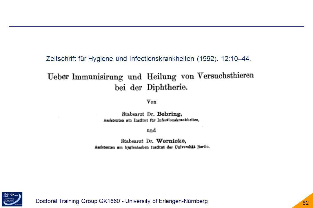Doctoral Training Group GK1660 - University of Erlangen-Nürnberg 82 Zeitschrift für Hygiene und Infectionskrankheiten (1992). 12:10–44.