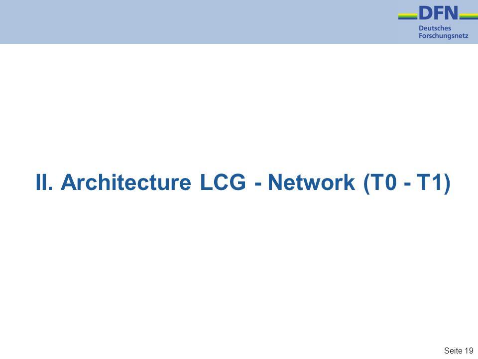 Seite 19 II. Architecture LCG - Network (T0 - T1)
