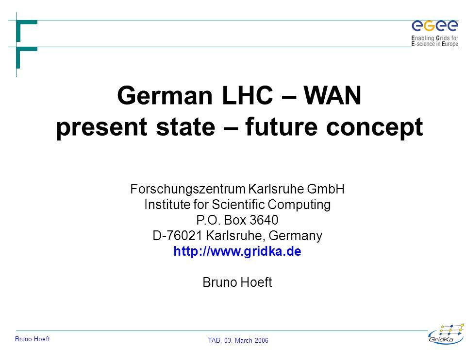 TAB, 03.March 2006 Bruno Hoeft GridKa FZK-LAN WAN (March 03 rd.