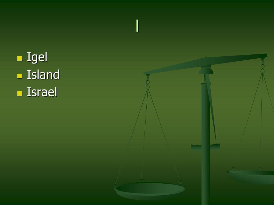 I Igel Igel Island Island Israel Israel