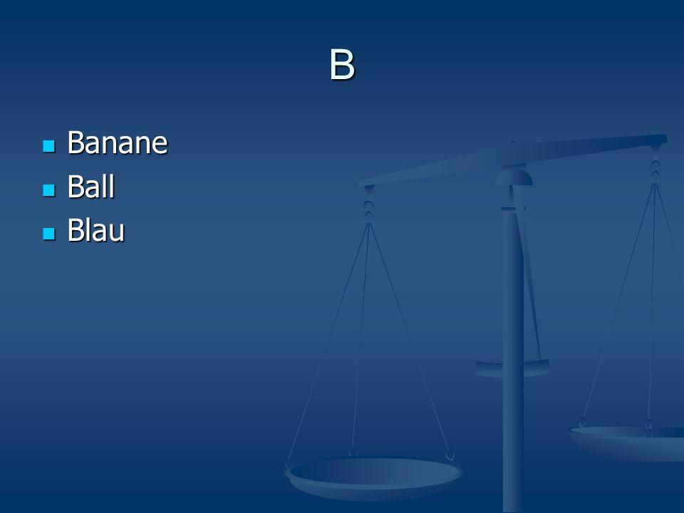 B Banane Banane Ball Ball Blau Blau