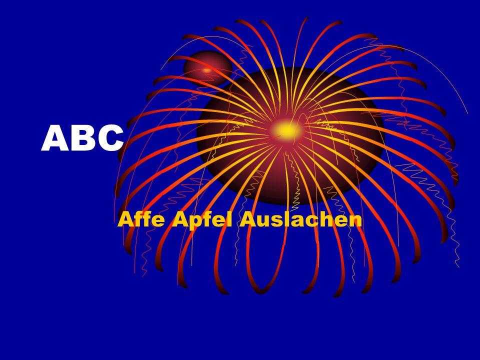 ABC Affe Apfel Auslachen
