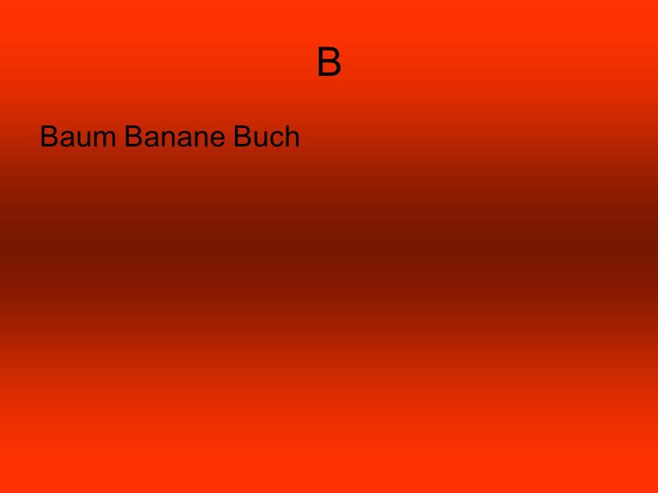 B Baum Banane Buch