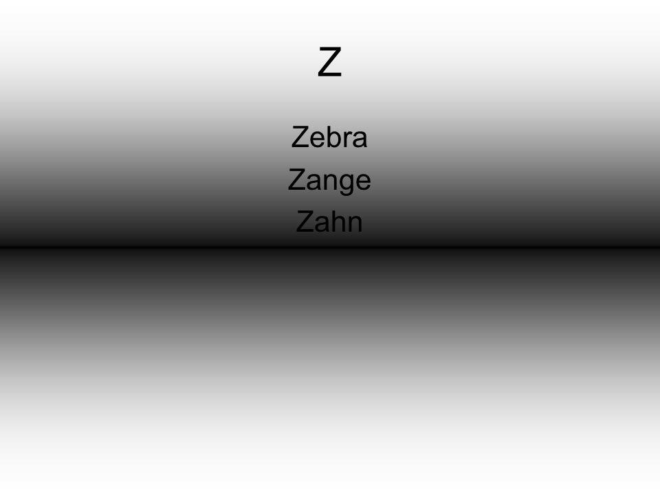 Z Zebra Zange Zahn