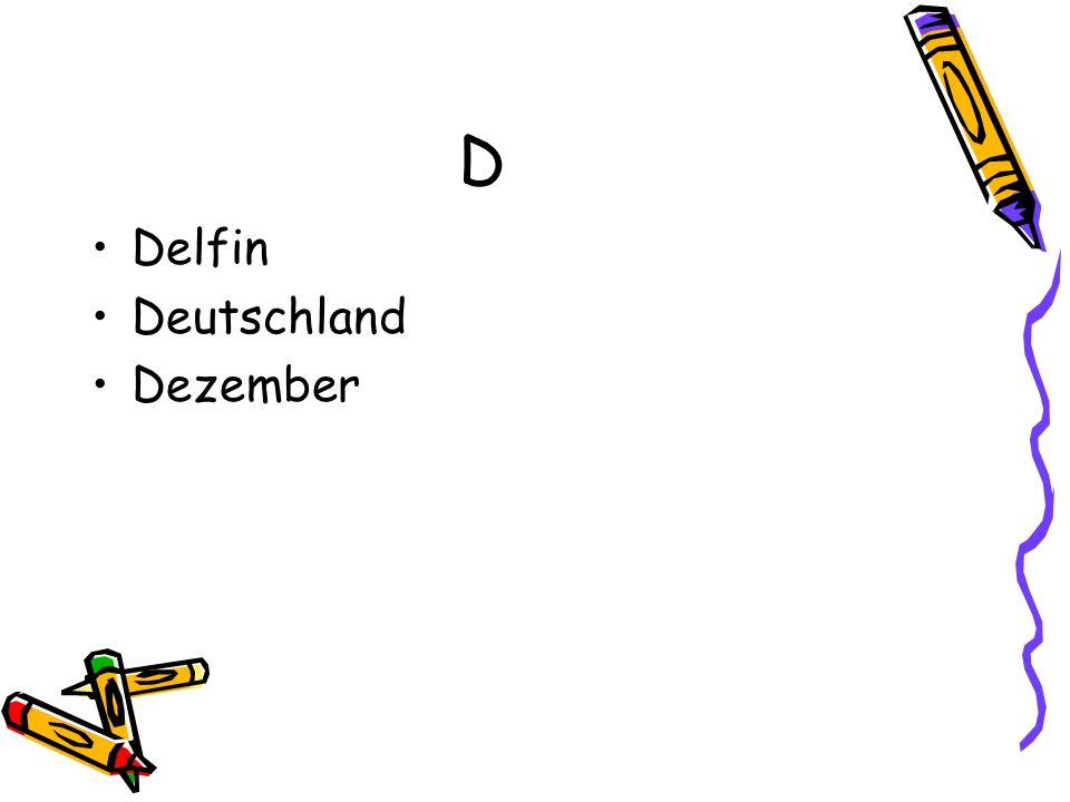 D Delfin Deutschland Dezember