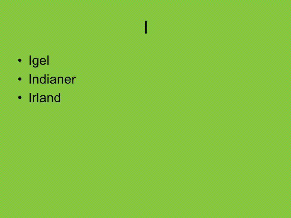 I Igel Indianer Irland