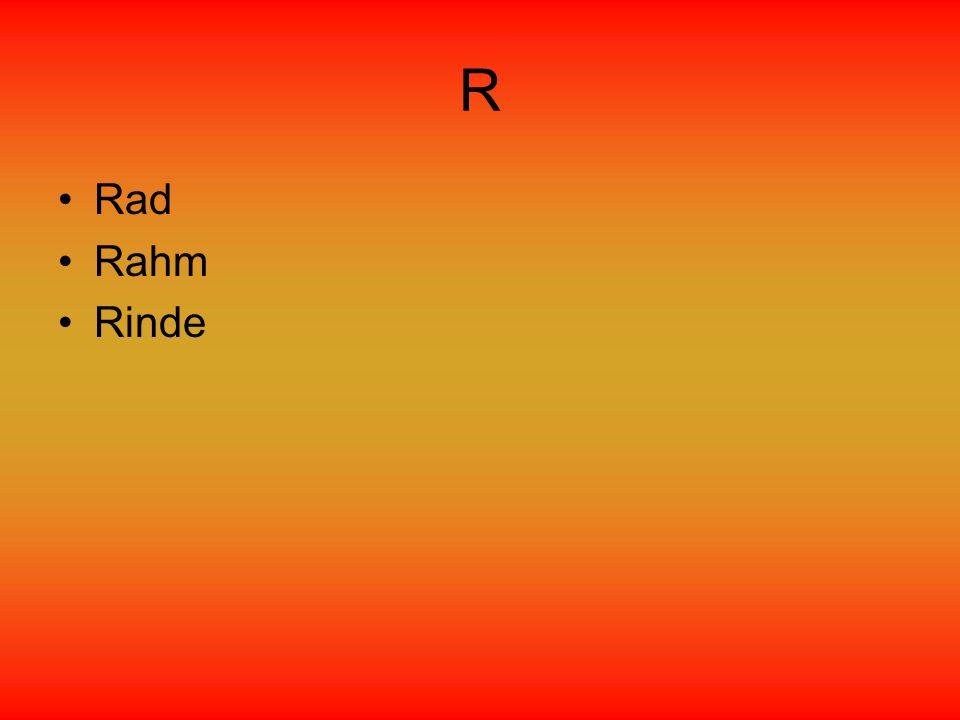 R Rad Rahm Rinde