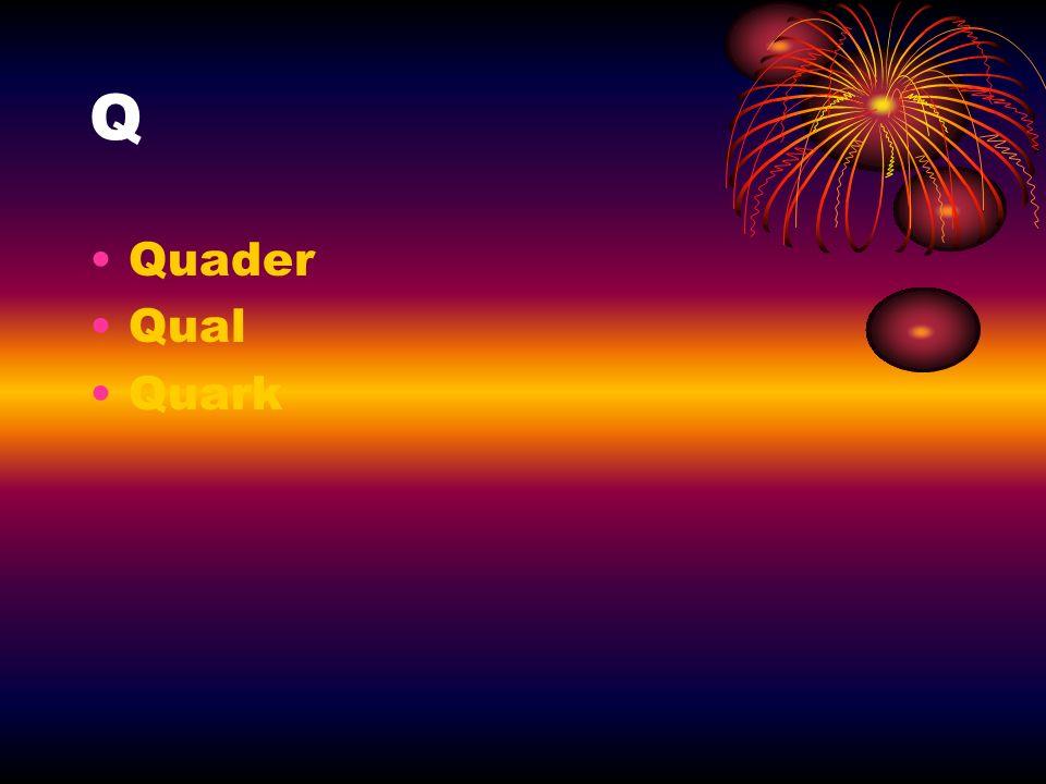 Q Quader Qual Quark