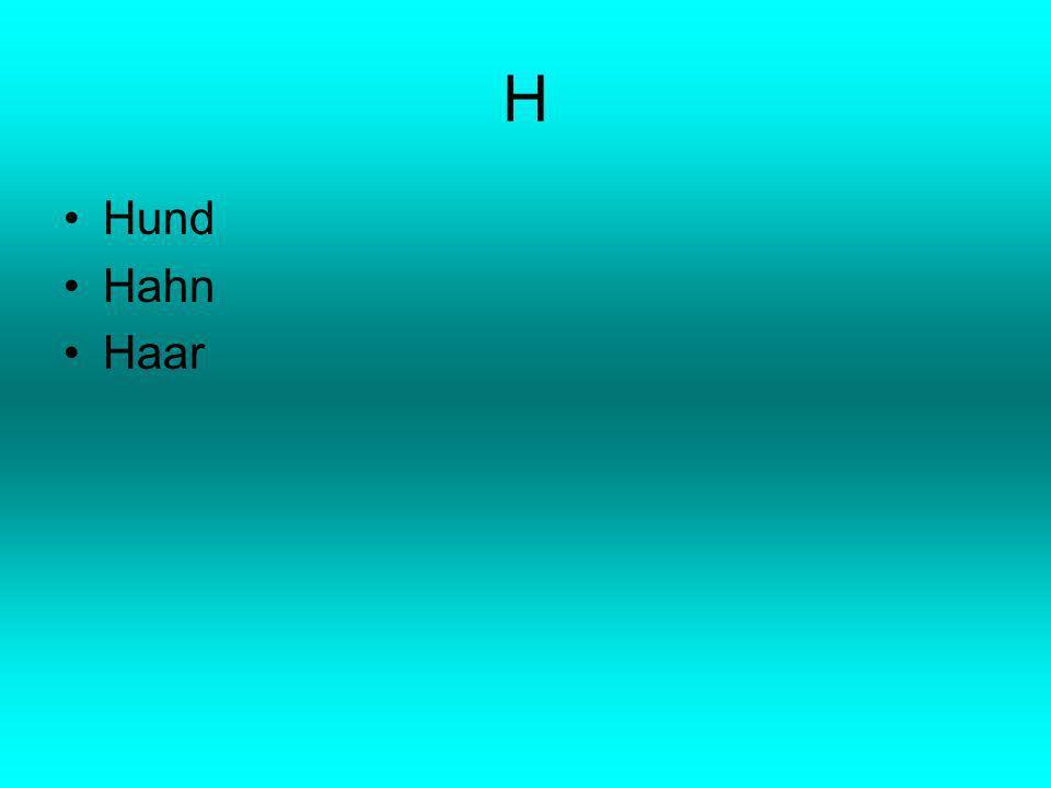 H Hund Hahn Haar