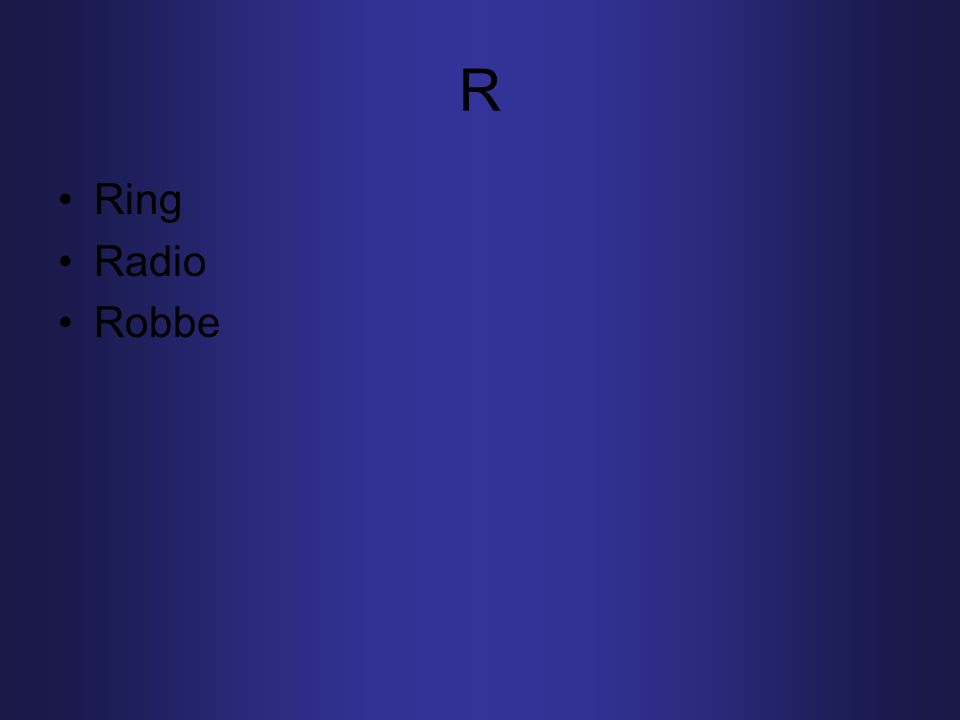 R Ring Radio Robbe