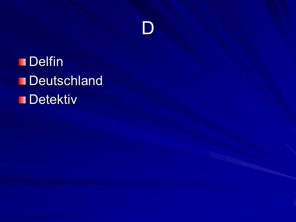 D DelfinDeutschlandDetektiv