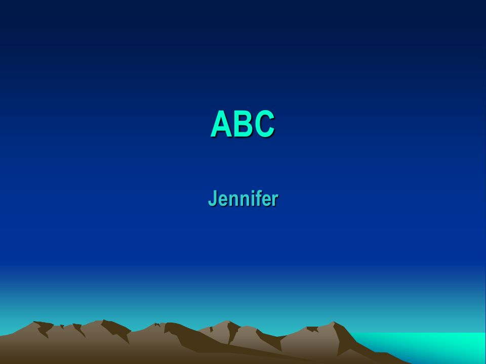 ABC Jennifer