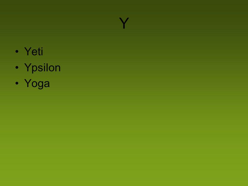 Y Yeti Ypsilon Yoga
