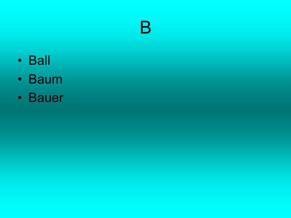 B Ball Baum Bauer