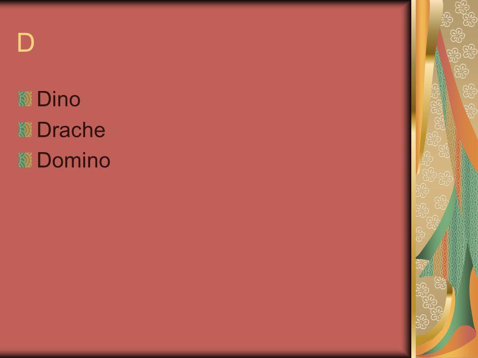 D Dino Drache Domino