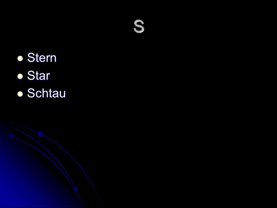 S Stern Stern Star Star Schtau Schtau