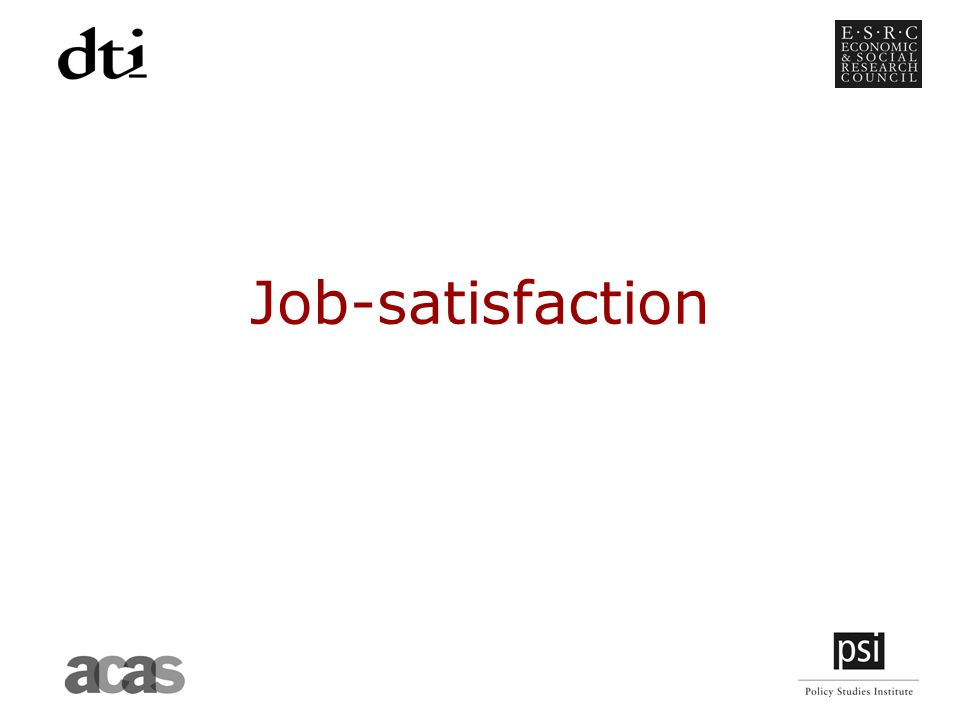 Job-satisfaction
