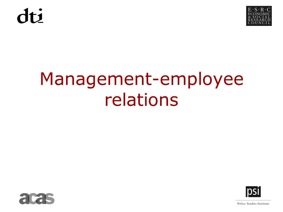 Management-employee relations
