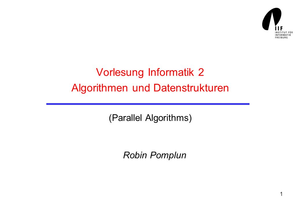 2 Overview A simple parallel algorithm Analysis of parallel algorithms The PRAM model The SIMD model A parallel Search Algorithm A Fast Merging Algorithm An efficient Sorting Algorithm