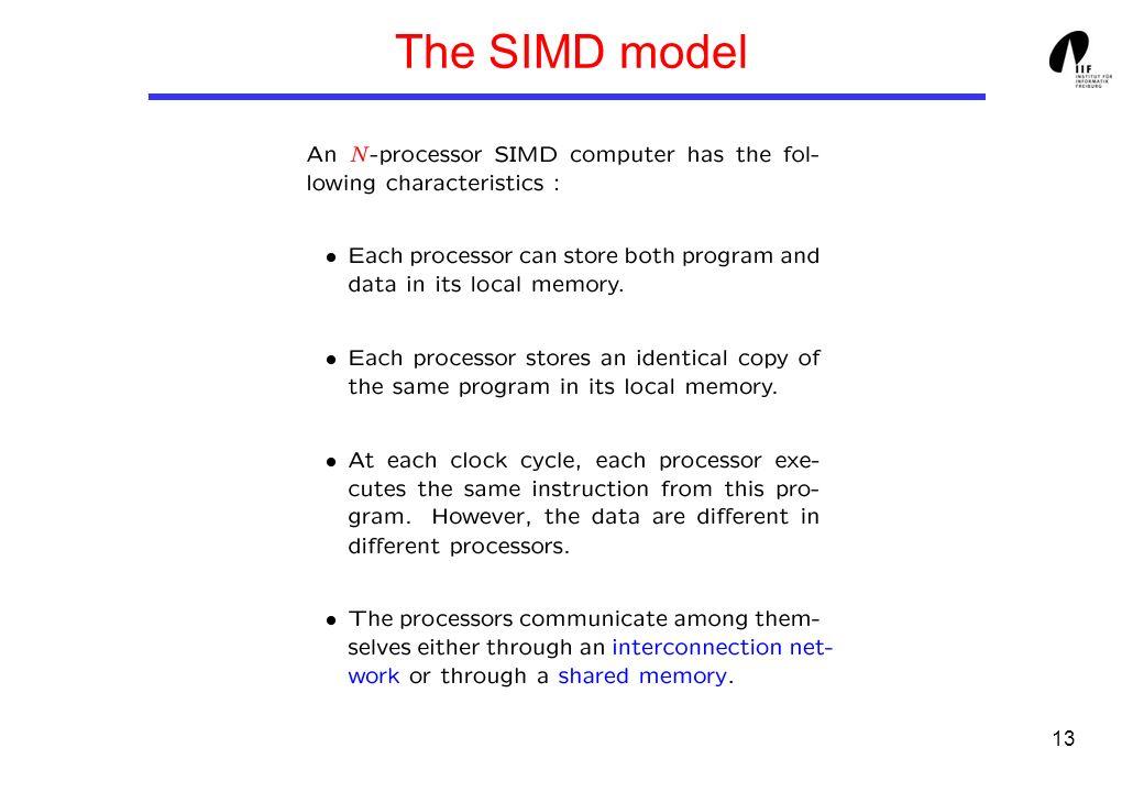 13 The SIMD model