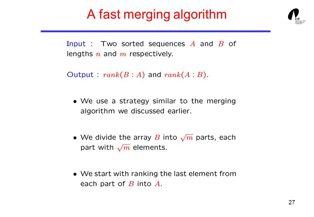 27 A fast merging algorithm