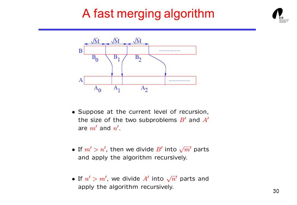 30 A fast merging algorithm