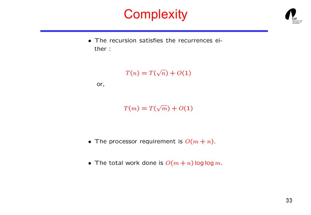 33 Complexity