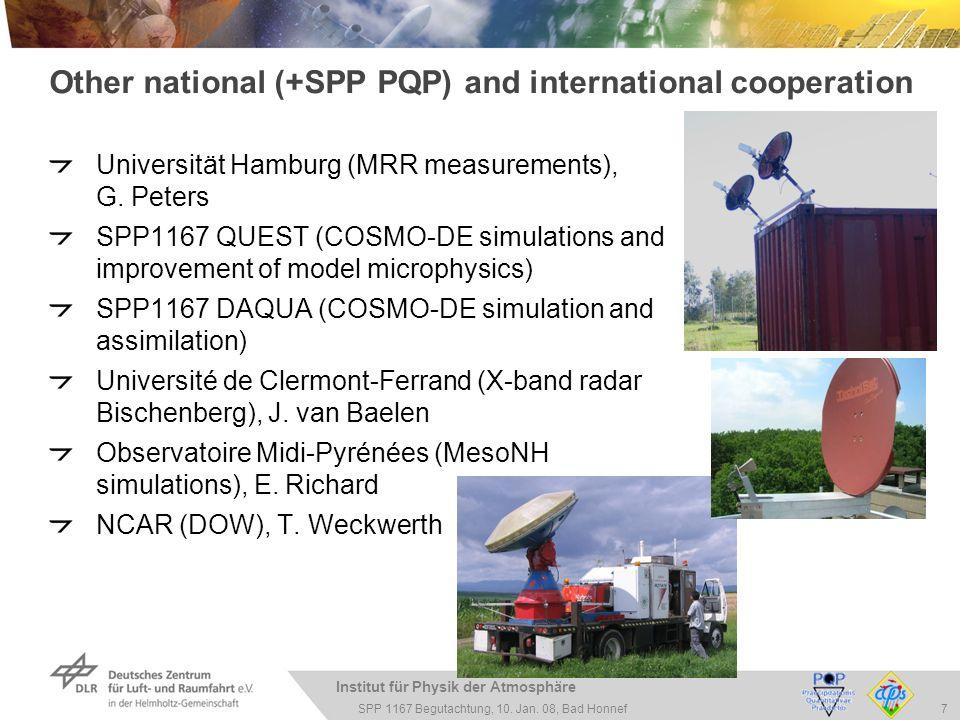 Institut für Physik der Atmosphäre 7 SPP 1167 Begutachtung, 10.