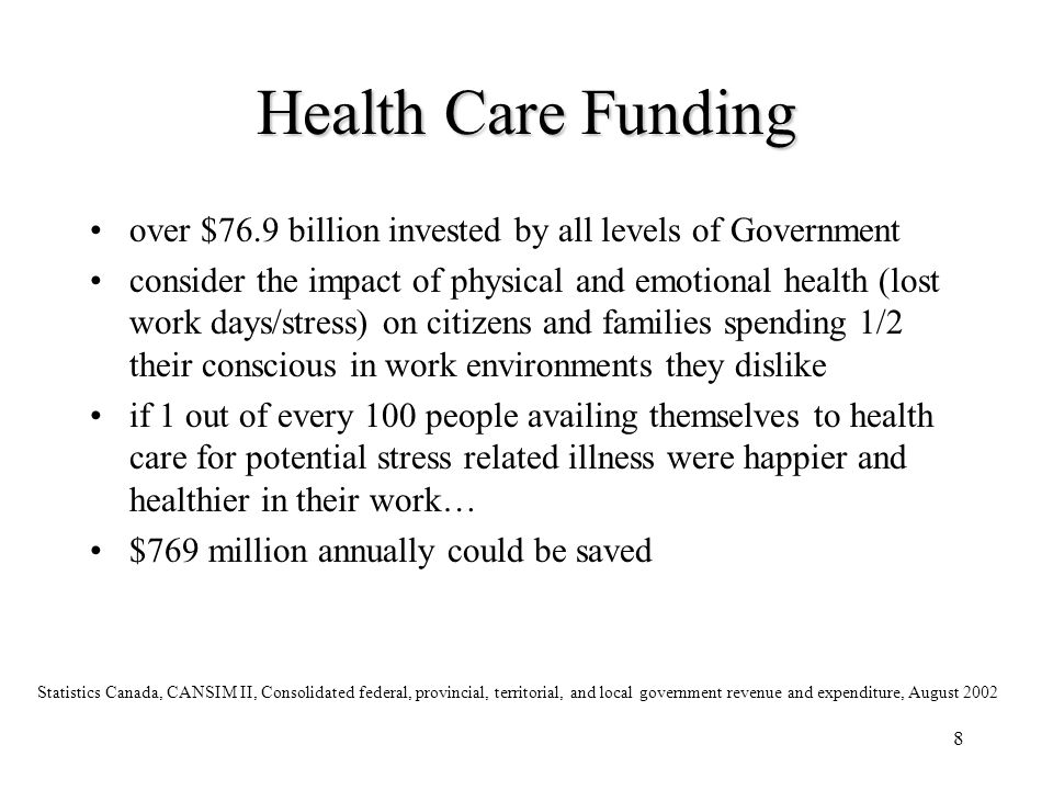 9 Social Services $113 billion invested by all levels of Government.