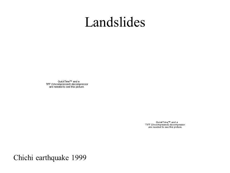 Landslides Chichi earthquake 1999