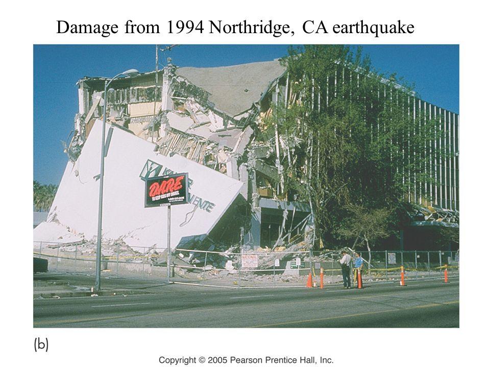 Damage from 1994 Northridge, CA earthquake