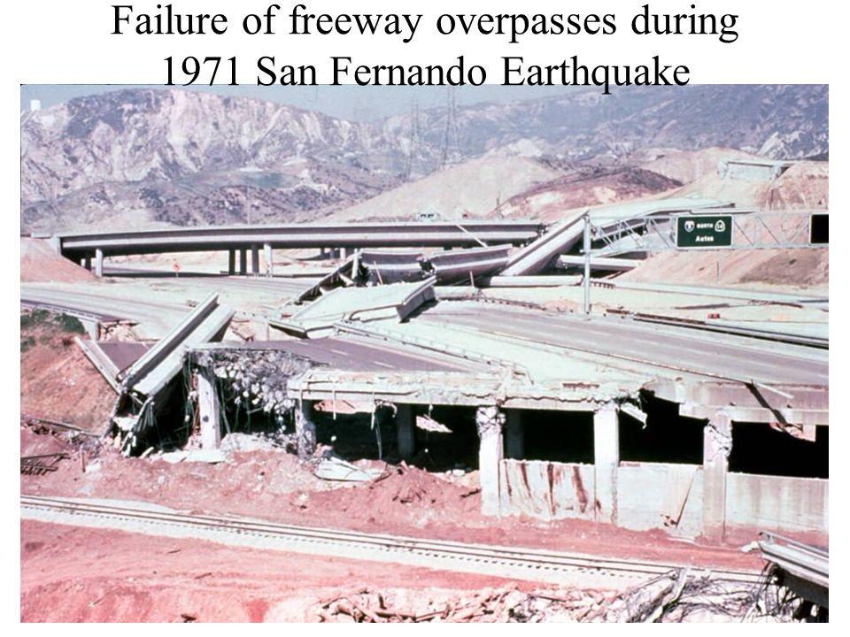 Failure of freeway overpasses during 1971 San Fernando Earthquake