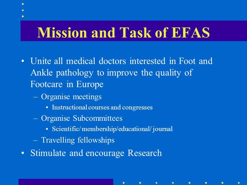 EFAS Congress 2 yearly 2000 Stockholm 2002 Sevilla 2004 Montpellier 2006 Prague