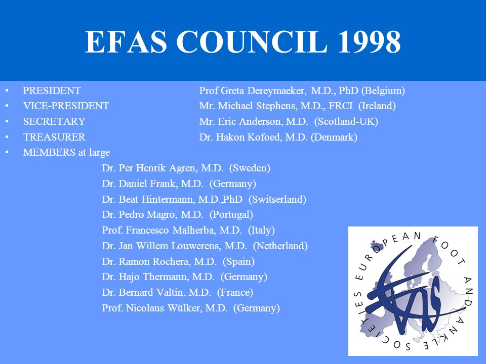 European Foot and Ankle Societies 2 journals Foot and Ankle Surgery Barcelona