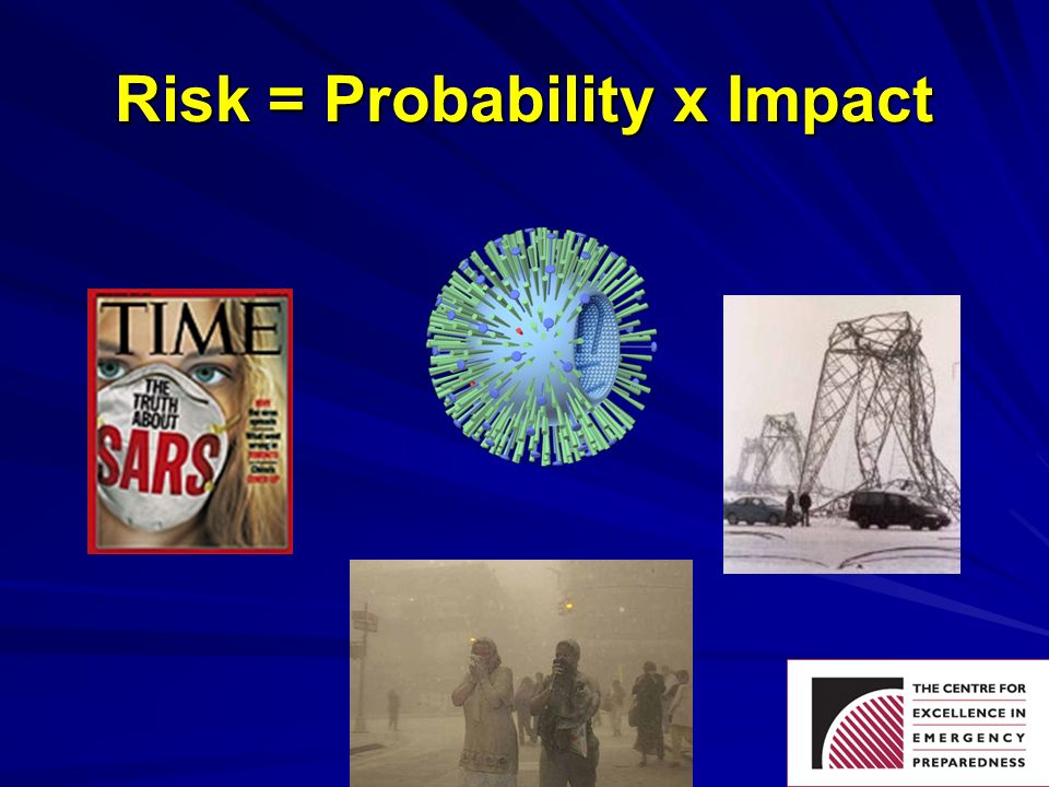 Disaster Preparedness Conference 2006 Risk = Probability x Impact