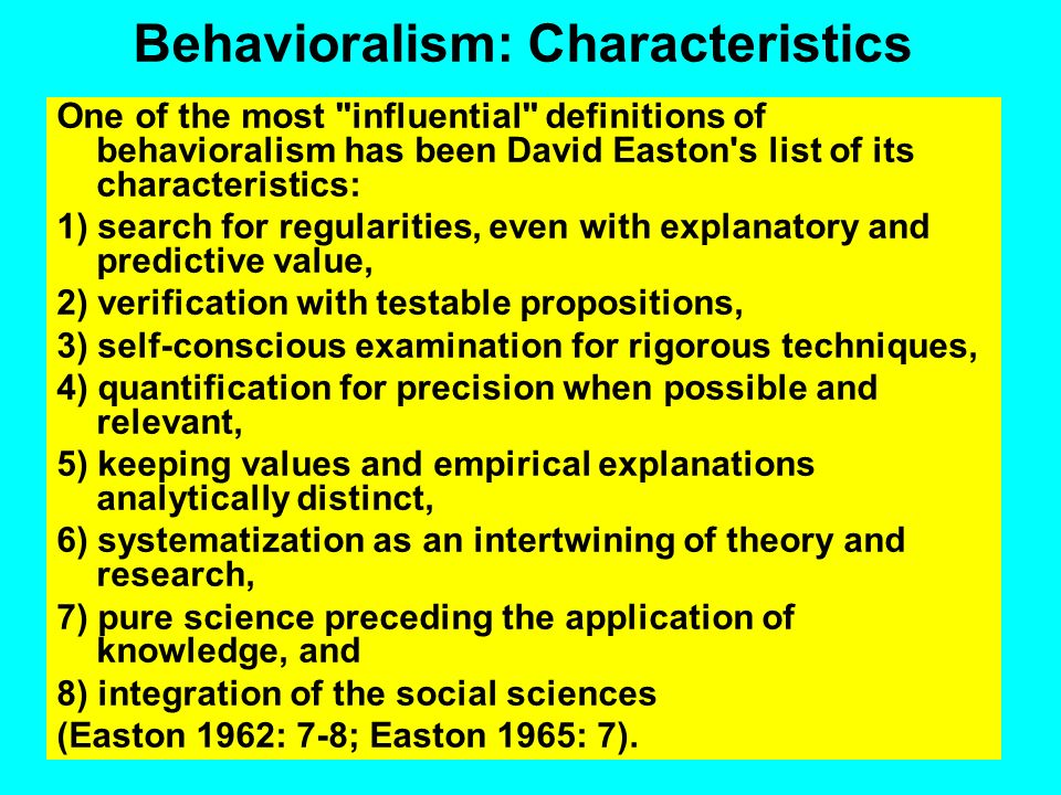 The Behavioral Revolution Goal: an interdisciplinary, methodologically rigorous science of human behavior, with the ability to predict as well as pres