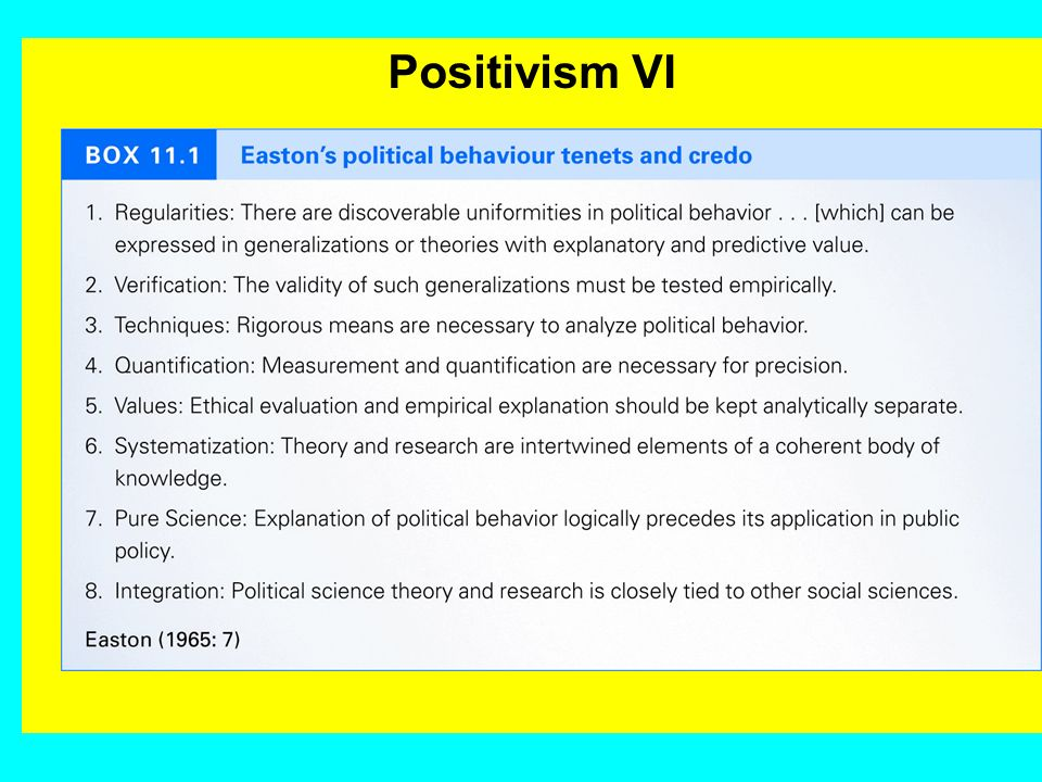 Positivism V Theory regards itself as problem-solving theory, which accepts the institutions and power/dominance relationships of a pre-given reality
