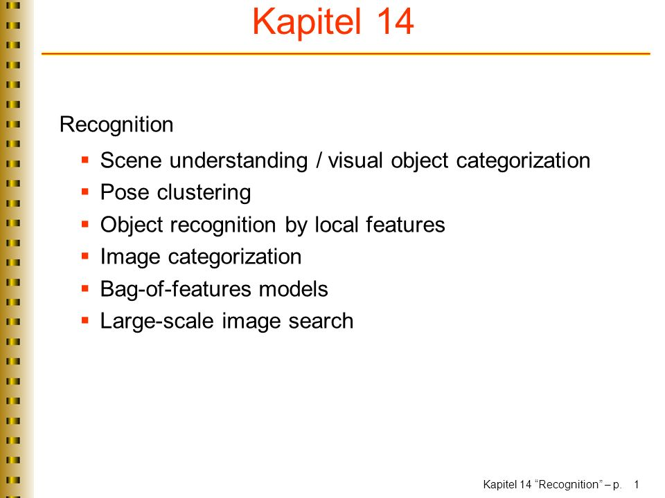 Kapitel 14 Recognition – p.