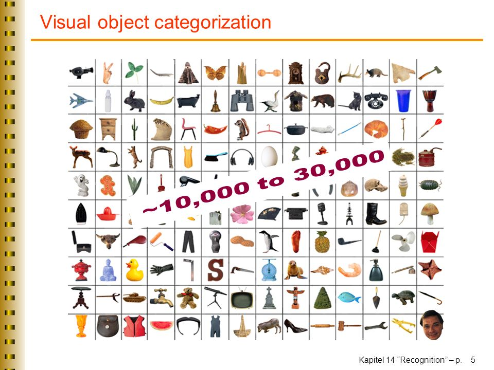 Kapitel 14 Recognition – p. 5 Visual object categorization