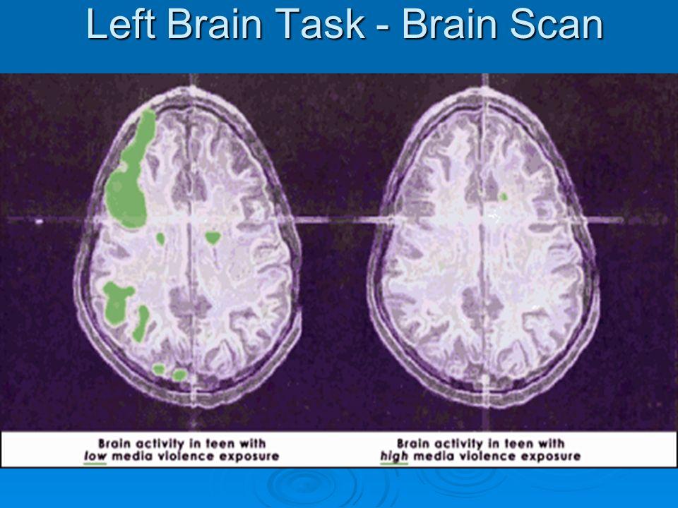 Left Brain Task - Brain Scan
